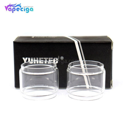 YUHETEC Replacement Glass Bubble Tank Tube for Wotofo Bravo RTA 6ml 2PCs