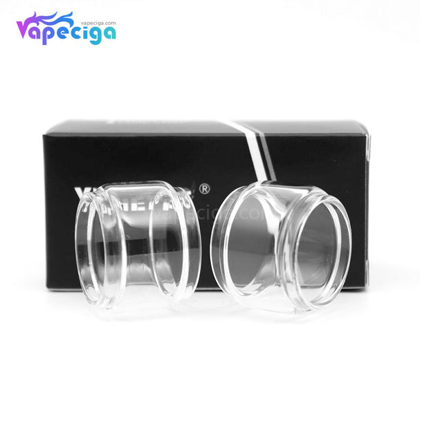 YUHETEC Replacement Glass Bubble Tank Tube for OBS Crius 2 RTA with Single Coil 2PCs