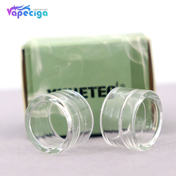 YUHETEC Transparent Replacement Glass Drip Tip for Smok TFV8 Baby V2 2PCs Display