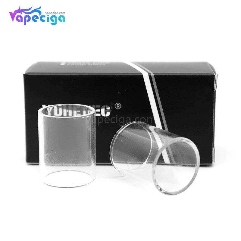 YUHETEC Replacement Glass Tank Tube for Aspire Triton V2 3ml 2PCs