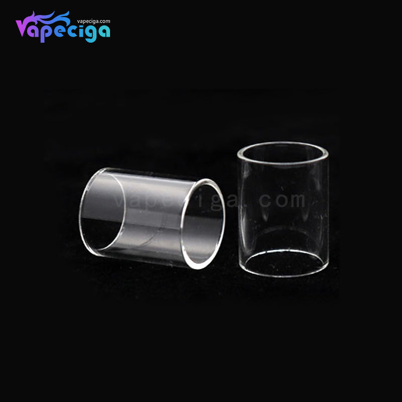 YUHETEC Replacement Glass Tank Tube for Dvarw RTA 16mm 2PCs