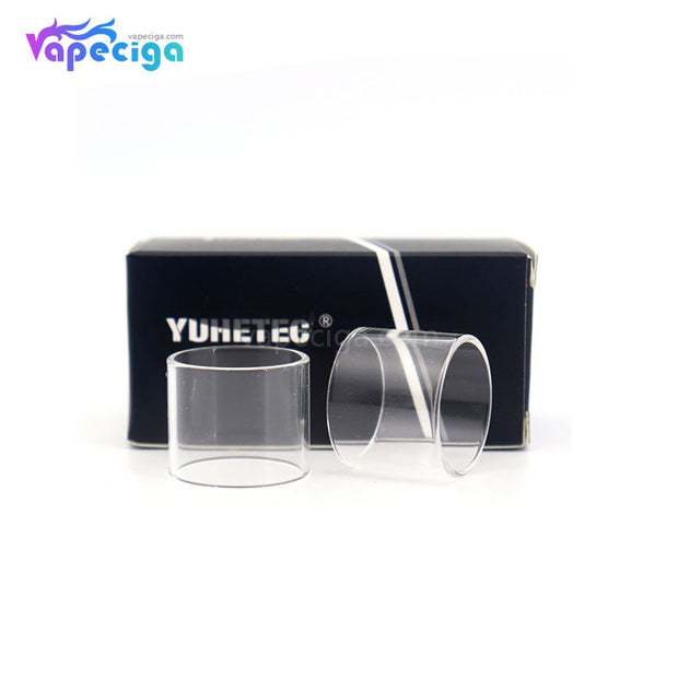 YUHETEC Replacement Glass Tank Tube for OBS Crius 2 Dual Coil 4ml  2PCs Real Shots