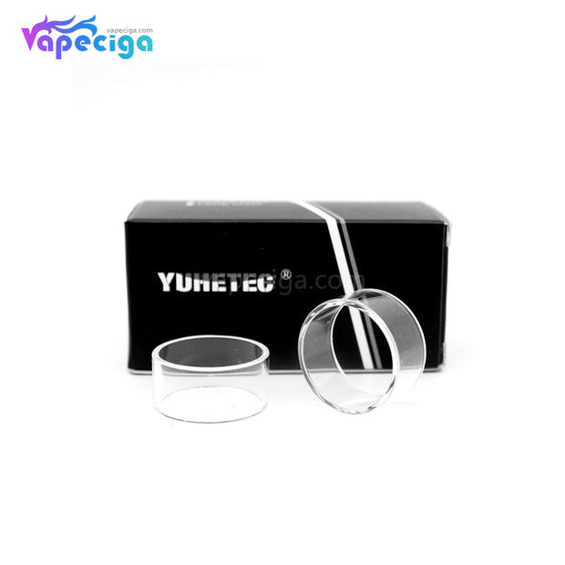 YUHETEC Transparent Replacement Straight Glass Tank Tube for Vandy Vape Kylin M RTA 3ml 2PCs Real Shots