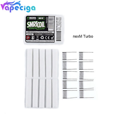 Wotofo SMRT Replacement PnP nexMESH Turbo Mesh+Cotton Strip 10pcs