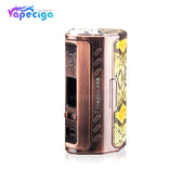 Antique Brass + Python Skin Yosta Livepor TC Box Mod 256W