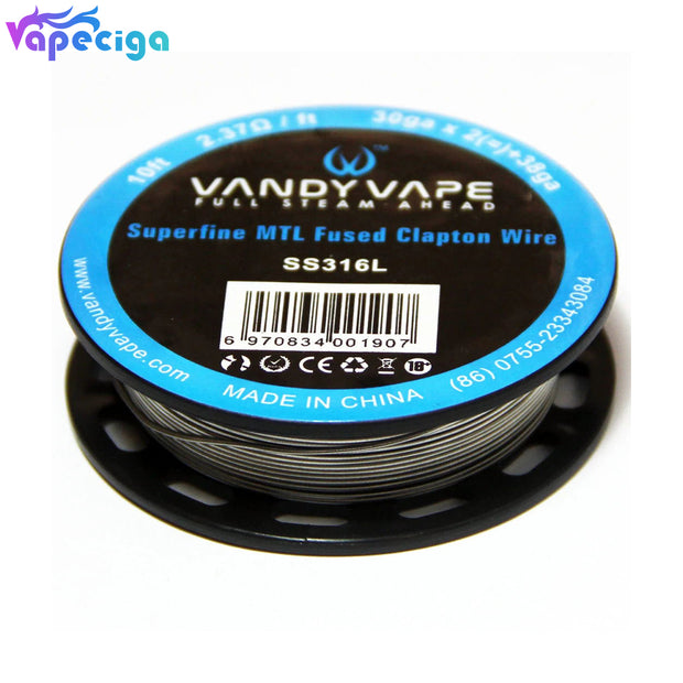 Vandy Vape A1 Superfine MTL Fused Clapton Wire for RDA / RTA / RDTA (10ft)