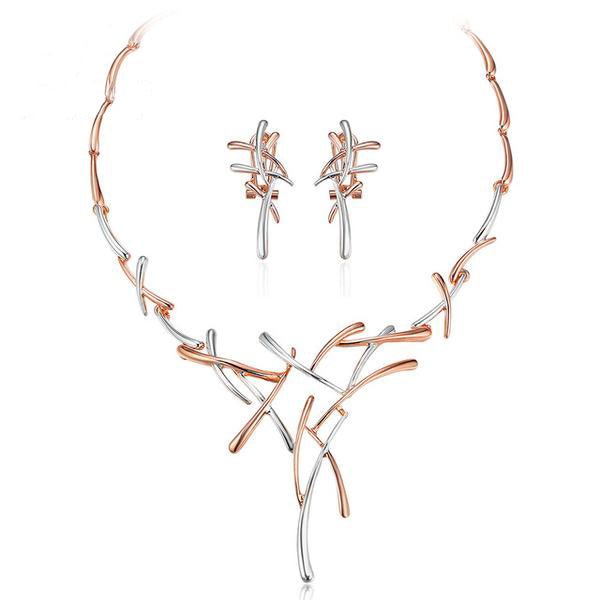 Metallic Cross Jewelry Set