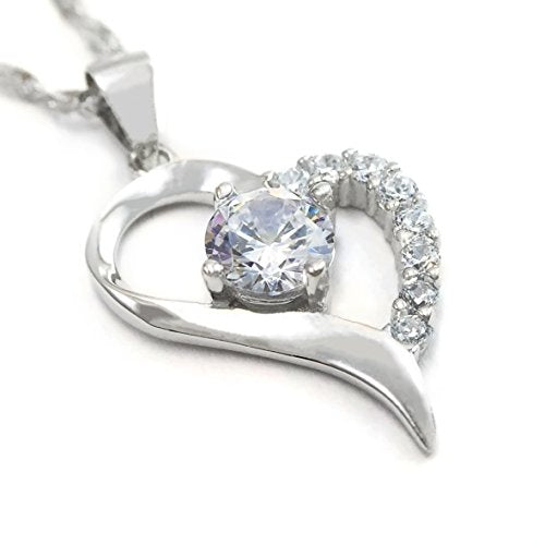 Only One in My Heart Sterling Silver Pendant Necklace