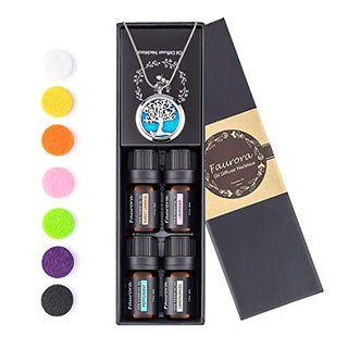 Faurora Essential Oil Necklace Gift Set