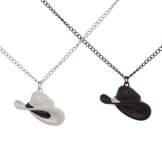 Westworld Bestie Cowboy Hat Necklace Set
