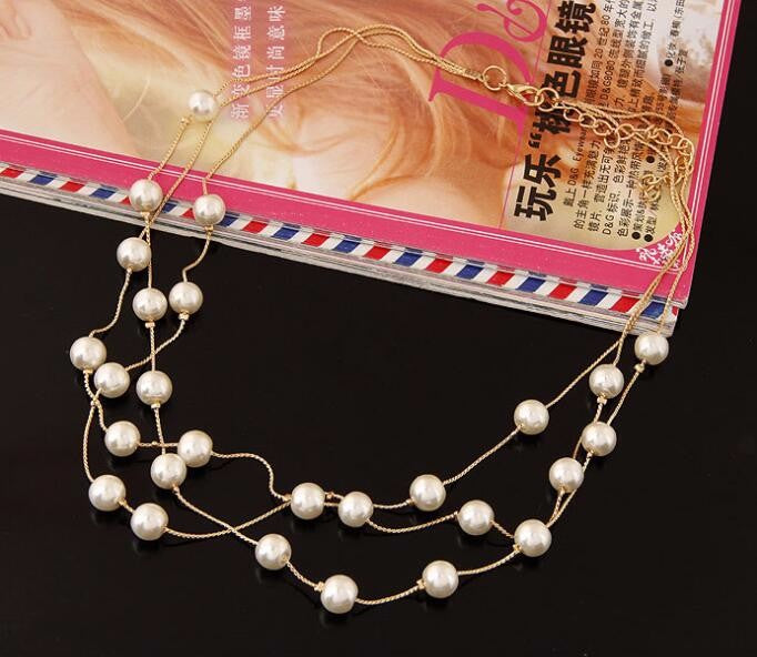 Imitation Pearl Jewelry Set