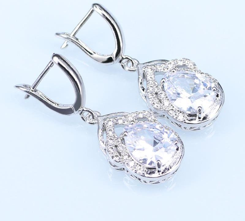 Crystal Water Drop Jewelry Sets
