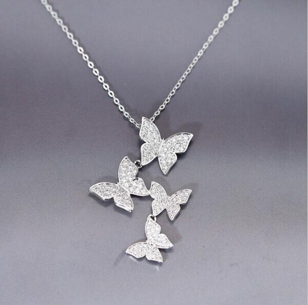 Zircon Butterfly Necklaces & Pendants