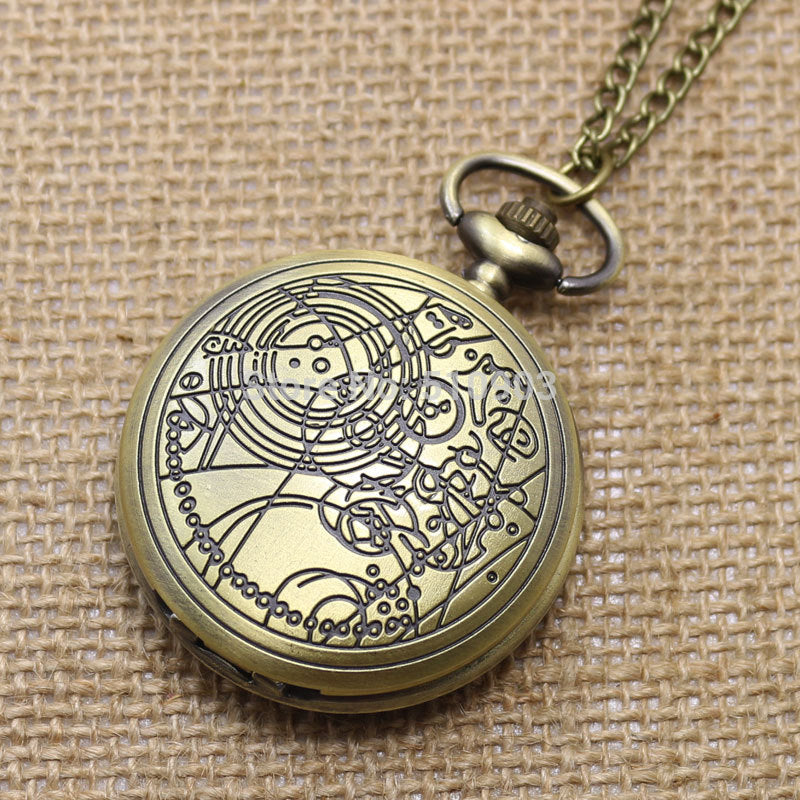 Doctor Who Pocket Watch Compass Pattern