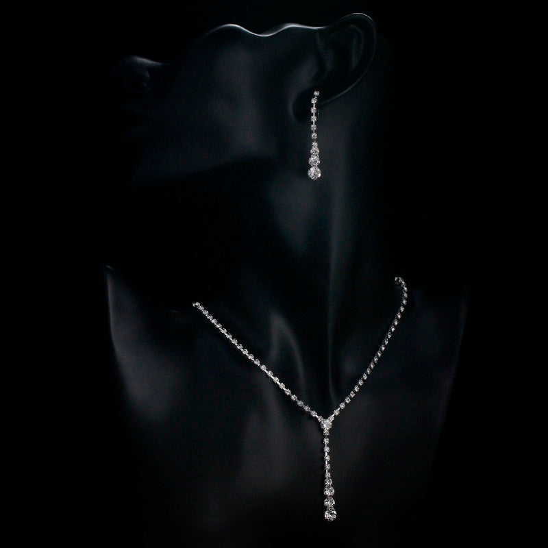 Drop Style Crystal Jewelry Sets