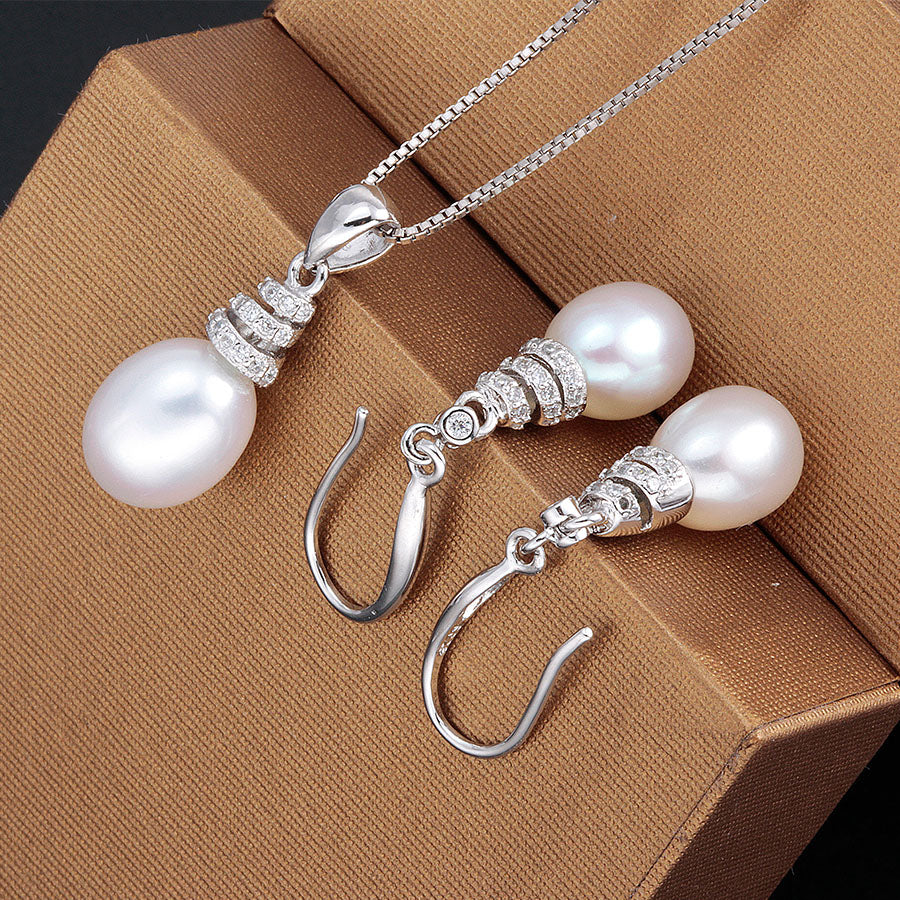 Sterling Silver Water Drop Accessories Sets
