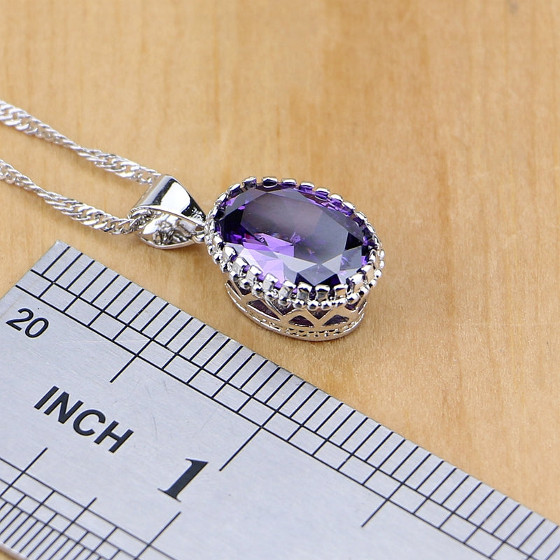 Cubic Zirconia Crystal Jewelry Sets