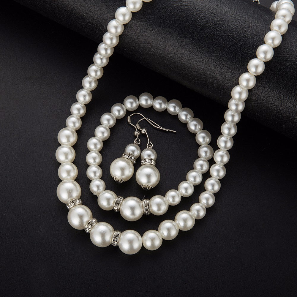 New Simulated Pearl Wedding Jewelry Set