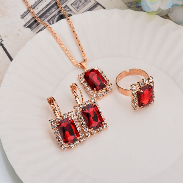 Fashion Adjustable Crystal Set