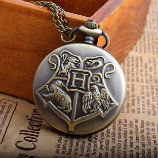 Vintage Style Harry Potter Hogwarts Pocket Watch