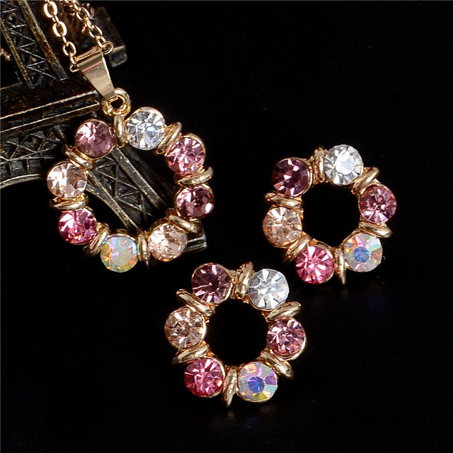 Luxury Wedding Bridal Rhinestone Jewelry Set
