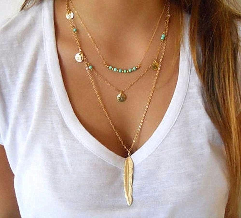 Fashion Feather Necklace