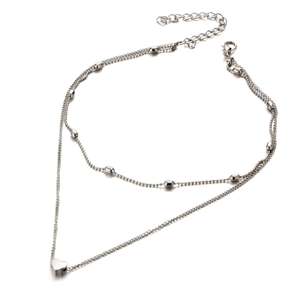 Bohemian Alloy Heart-Shaped Choker