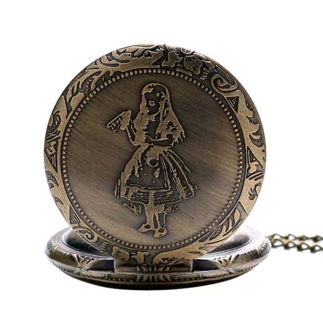 Retro Style Alice in Wonderland Pocket Watch