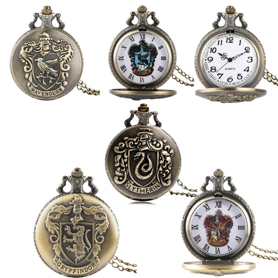 Hogwart Houses Vintage Style Pocket Watches