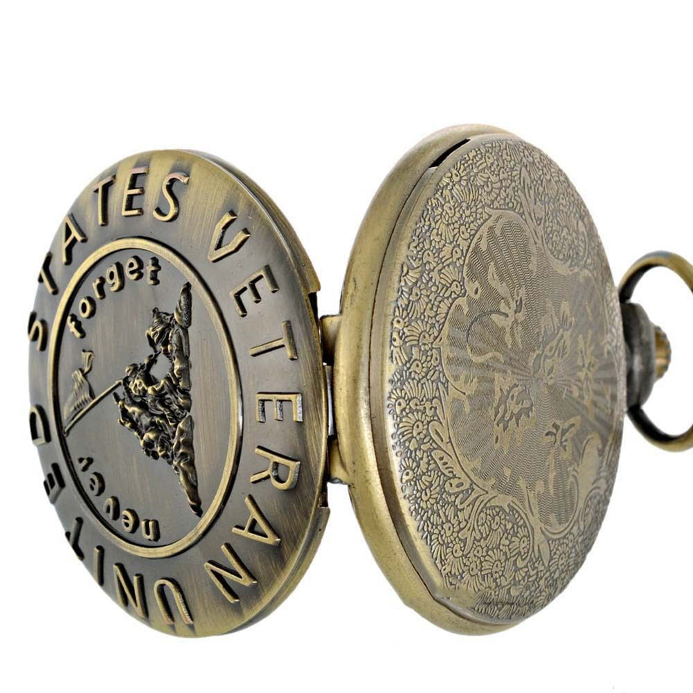 US Veteran Vintage Style Pocket Watch