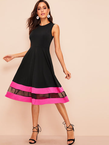 Envie Sera Fit and Flare Dress