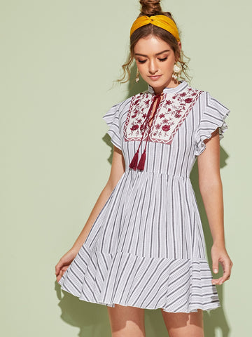 Envie Columba Floral Embroidery Dress