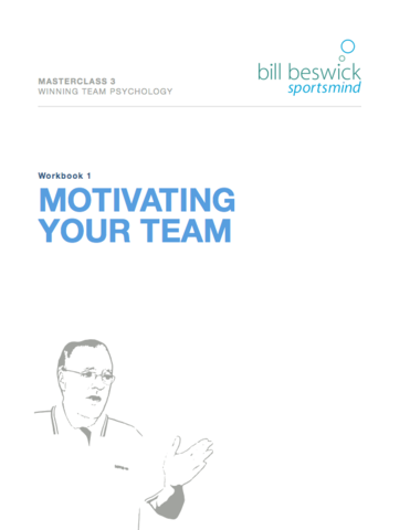 Masterclass 3: Winning Team Psychology