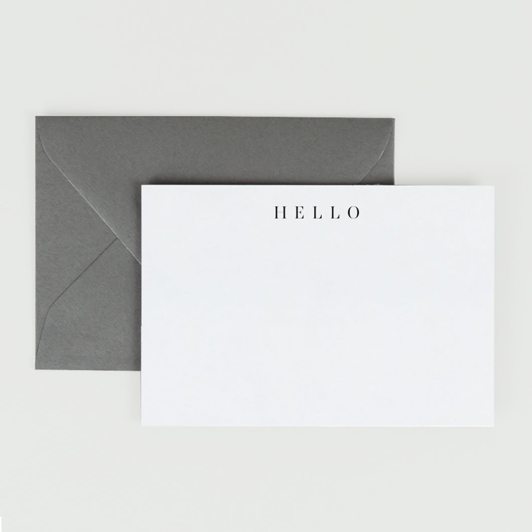 Hello Ultra-thick Flat Note Card