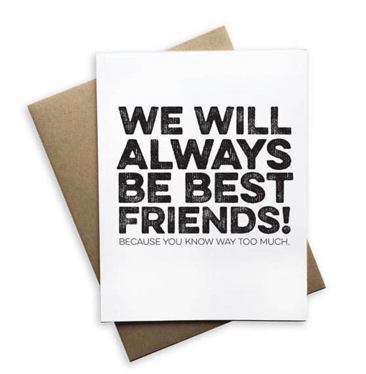 We Will Always Be Best Friends Notecard