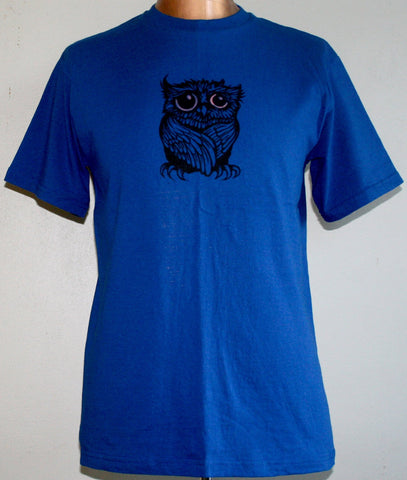 Sad Owl T-Shirt - Royal Blue (Medium)