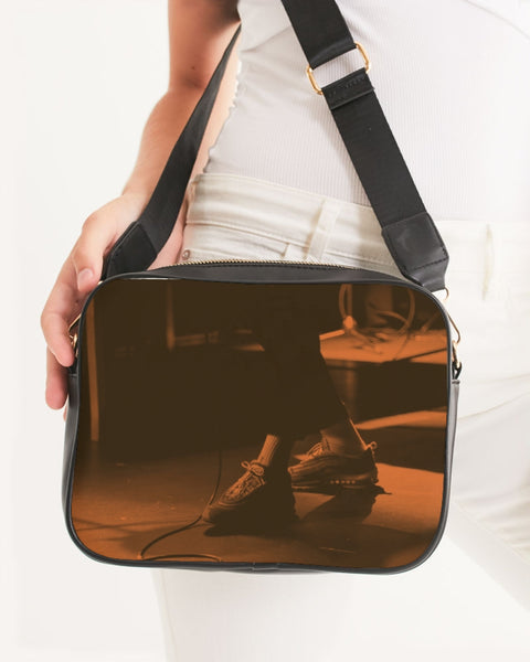 Feet Meet Stage - Musician / Hip-Hop Artist Mens T-shirt Crossbody Bag - huronshop1