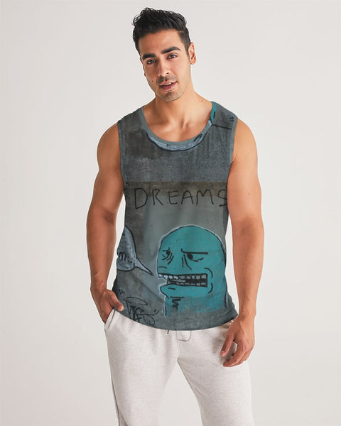 Anonymous Graffiti circa 2009 Minneapolis Minnesota Men's Sport Tank - huronshop1