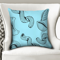"Bold Brain - Bright Noodle Throw Pillow Case 20""x20"" - huronshop1"