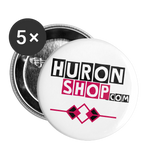 "HuronShop Pink and Black Argyle || 5 Pack Large 2.2"" Buttons 