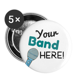 "Teal ""Your Band Here"" 2.2"" Pins 5pk 