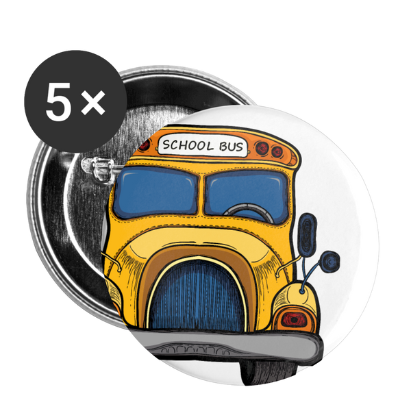 "Small 1"" Bus Button 5pk 
