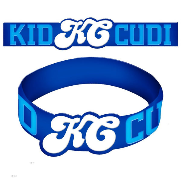 Kid Cudi Blue Script - Unisex Os Rubber Bracelet || Great Hip Hop Men's Gift! || Guys Style || - huronshop1