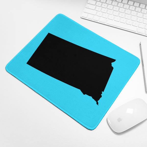 Bright Blue State of South Dakota Mouse Pad