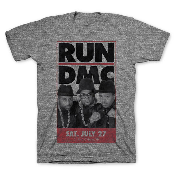 Run DMC Vintage Tour Slim Fit T-Shirt || Great 90s Hip Hop Mens Gift! || - huronshop1