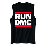 Run DMC - Classic Logo Muscle Tank || Great Hip Hop Gift for Guys!! || - huronshop1