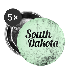 South Dakota Green Scratch - Buttons small 1'' (5-pack)