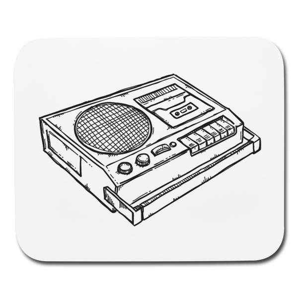 Old Skool DJ Horizontal Mouse Pad || Black and White Computer or Gamer Gift! || - huronshop1