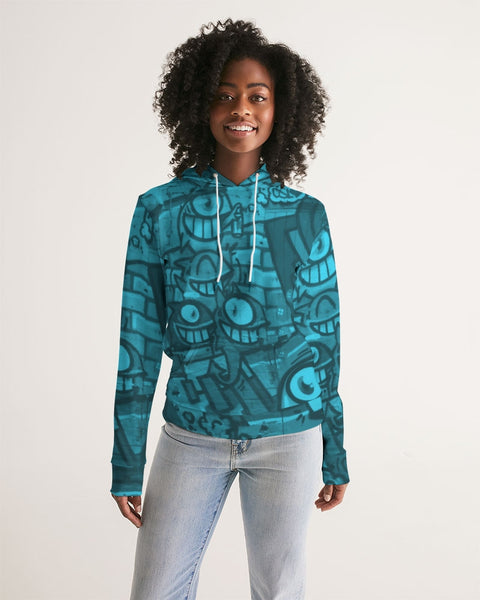 Freaky Fun Graffiti Blues Women's Hoodie - huronshop1