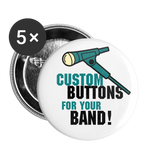 Custom Large Buttons / Pins for your Band! (5ea) || Get Unique Merch at an Amazing Price!! || - huronshop1